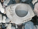 gray lizard stone bowl